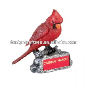 Resin Cardinal Red Bird Ornament jpg