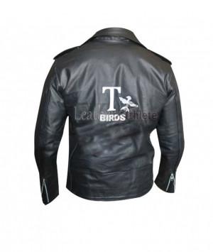 Jackets » JOHN TRAVOLTA GREASE DANNY ZUKO T BIRDS LEATHER JACKET
