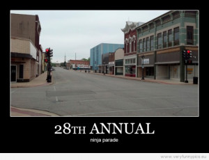 Funny Picture - 28th annual ninja parade