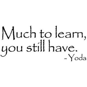 MUCH TO LEARN, YOU STILL HAVE YODA STAR WARS QUOTE WALL WORDS VINYL WA ...