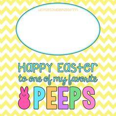 Printable Kids Easter Treat Tags - Peeps Easter Goodie Bag Toppers ...