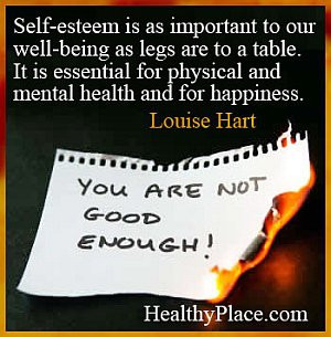 Quote on mental health - Self-esteem is as important to our well-being ...