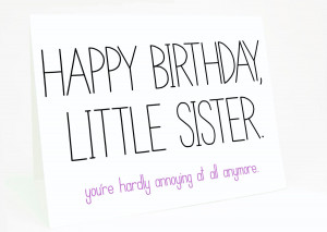 funny birthday quotes for older sister