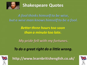 English Quotes About Learning Shakespeare quotes jpeg