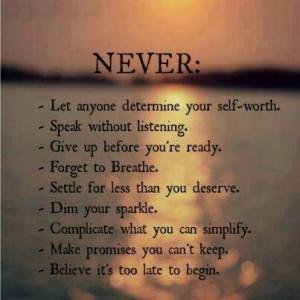 Never again!! Sayings