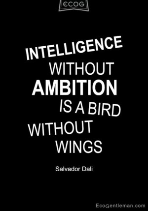 ... quote about intelligence and ambition
