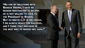 Vladimir Putin Quotes Putin's best quotes from