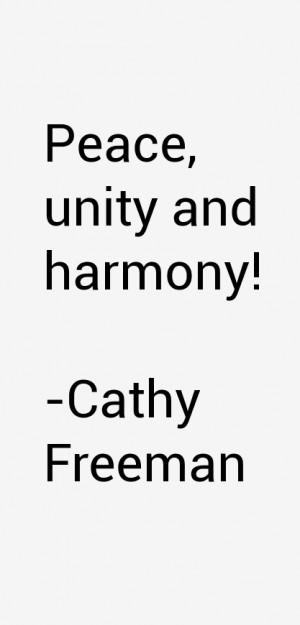 """Peace, unity and harmony!"""""""