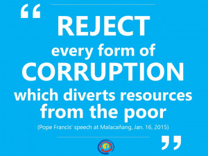 ... from the poor (Pope Francis' speech at Malacañang, Jan. 16, 2015