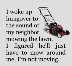 There's no freaking way that I'm moving... ;-P