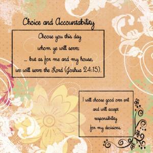 Choice and Accountability - Created by: Anita