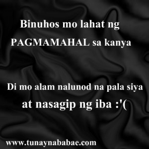 Sad Quotes About Love And Cheating : Cheating Tagalog Sad Quotes. QuotesGram