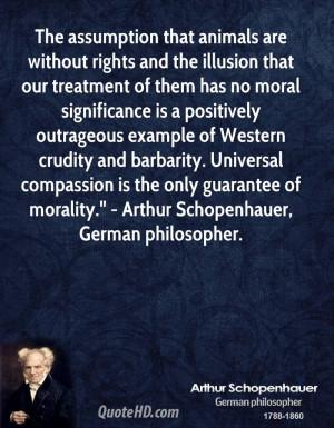 Arthur Schopenhauer Quotes About Animals