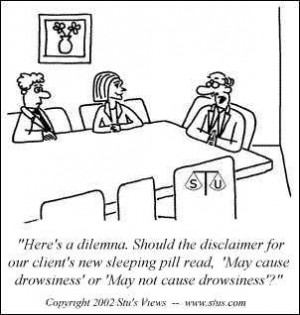 Here's a legal dilemma – should our client's disclaimer on their ...