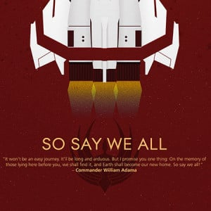 Battlestar Galactica So Say We All 10th Anniversary Poster Additional ...