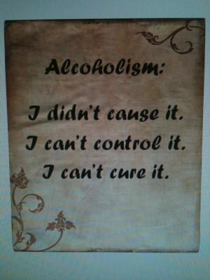 Al-Anon: The Three C's of Alcoholism