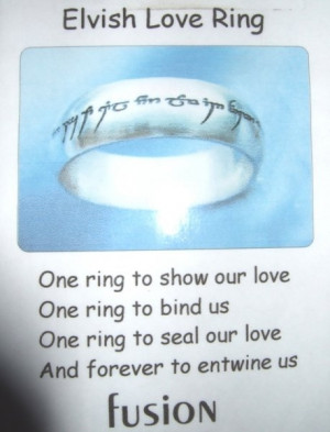 !: Elvish Love, Nerd Rings, Elvish Wedding Tolkien, Rings Nic, Elvish ...