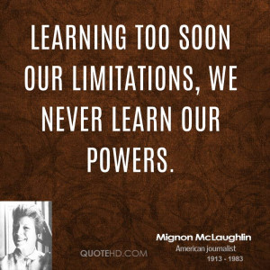 Mignon McLaughlin Quotes