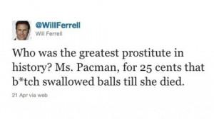 Will Ferrell on Ms Pacman