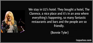 hotel, The Clarence, a nice place and it's in an area where everything ...