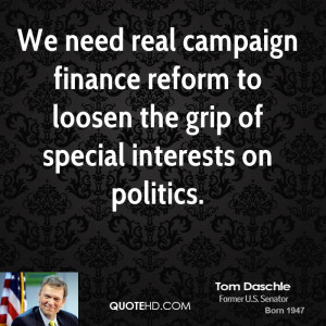We need real campaign finance reform to loosen the grip of special ...