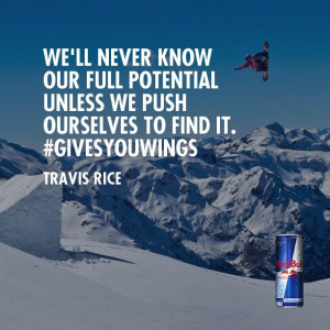 Quotes Travis, Redbull Quotes, Travis Rice Quotes, Bull Ideas ...