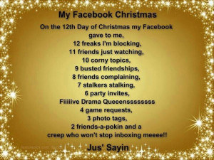 My Facebook christmas ''Lmao! !