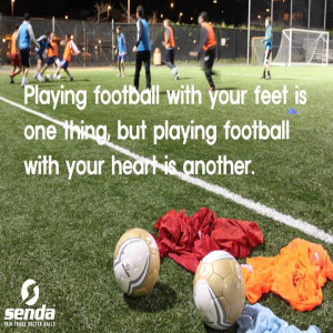 Playing football with your feet is one thing, but playing football ...