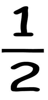 One Half Fraction Symbol