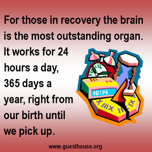 For those in recovery the brain is the most outstanding organ...