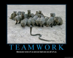 """Teamwork, Because None Of Us Are As Bad Ass As All Of Us """""""