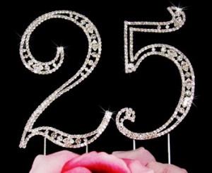 25th-Birthday-Swarovski-Crystal-Cake-topper-25th-Anniversary-Cake ...