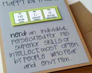 ... de cumpleaños Nerd - Nerdilicious Science Teacher verde y gris