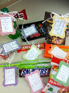Candy sayings we gave to our boss :) More