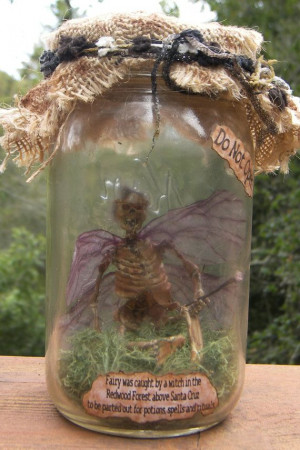 Captured Dead Fairy In A JarHalloween Fairies In A Jar, Captured Fairy ...