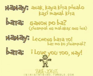 May nag text... funny tagalog quotes.