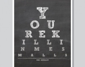 The Sandlot Typography print - Wall decor Quote Art typographic print ...