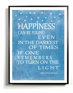 Quote Art Print, Albus Dumbledore quote, inspirational quote ...