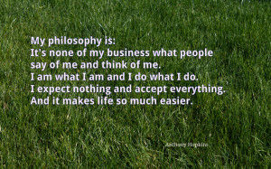 My philosophy is... quote wallpaper