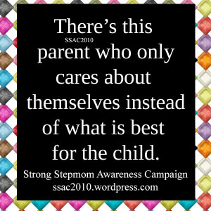 parents think more about themselves more than the child. It's sad ...