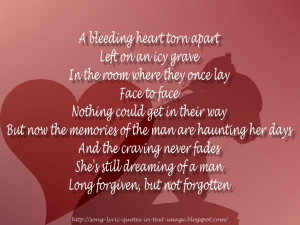 Forgiven Not Forgotten - The Corrs Song Lyric Quote in Text Image