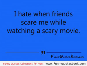 Funny quotes about scary movie