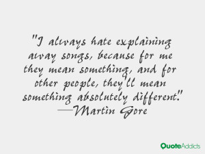 Martin Gore Quoteson Quotes About The Environment By Famous People