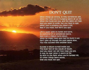 dont quit poem motivational wallpaper on dont