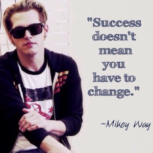 Mikey Way | quote and MAY I JUST ADD THAT HE IS WEARING A CM PUNK ...