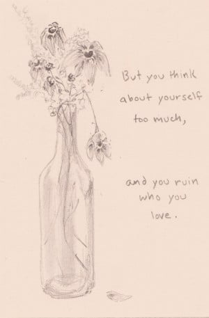 love drawing art quote song Typography lyrics gpoy flowers bright eyes ...