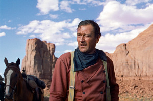 John Wayne is out for blood in The Searchers.