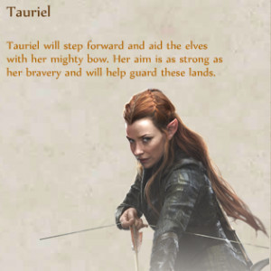 Tauriel as a hero in The Hobbit: Armies of the Third Age