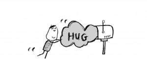 Happiness is, sending someone a massive hug.