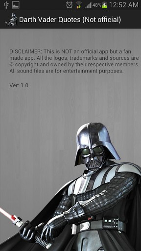 View bigger - Darth Vader Sounds & Quotes for Android screenshot